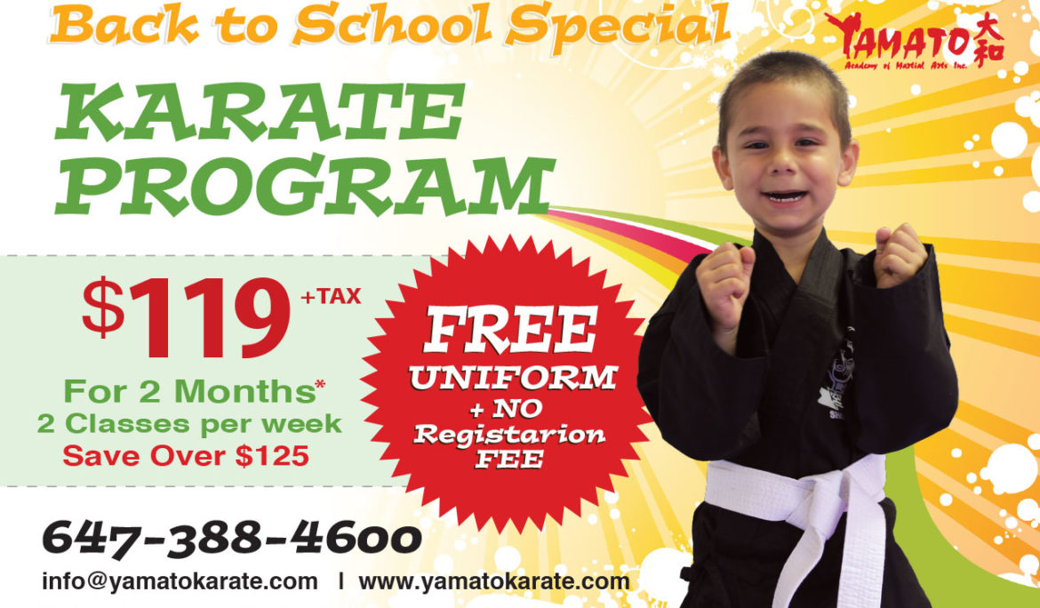 Back to School Special Offer